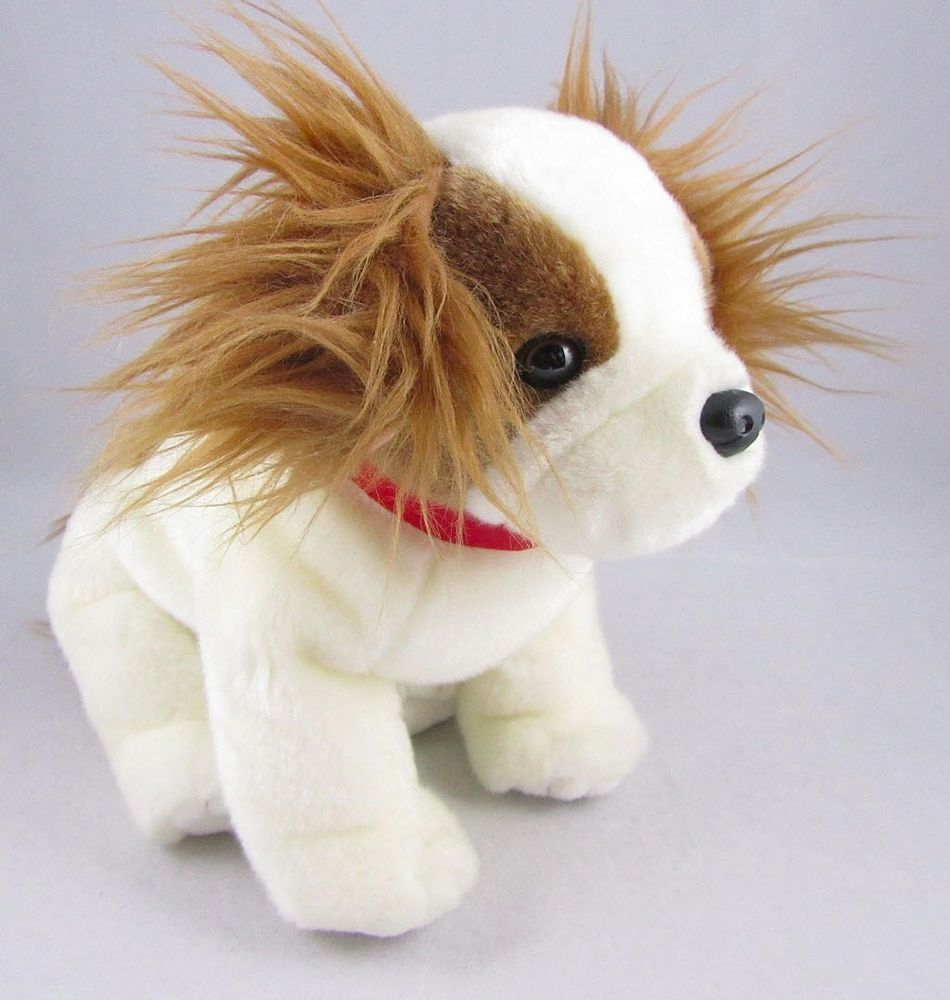 Ty 2001 Plush Brown White Puppy Dog Stuffed Animal Regal Beanie