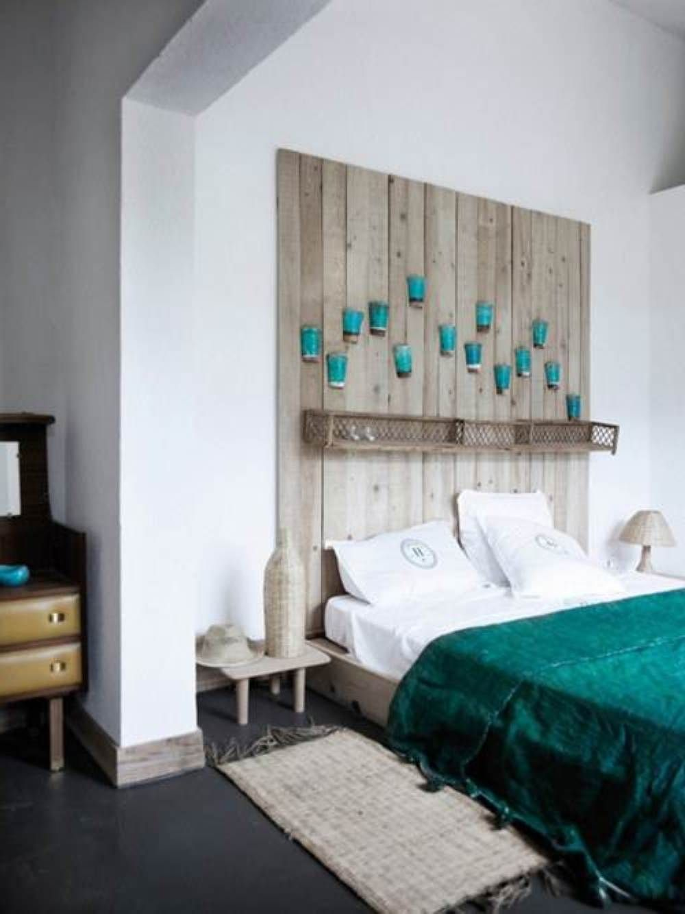 headboard wall decor ideas for bedroom | Guest Room | Pinterest ...