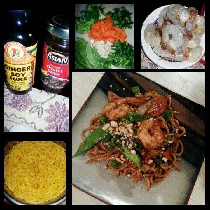Shrimp chowmein