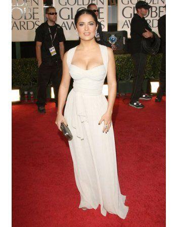 Shoulder Straps Long A-line Cross Back Celebrity Prom Dress ...