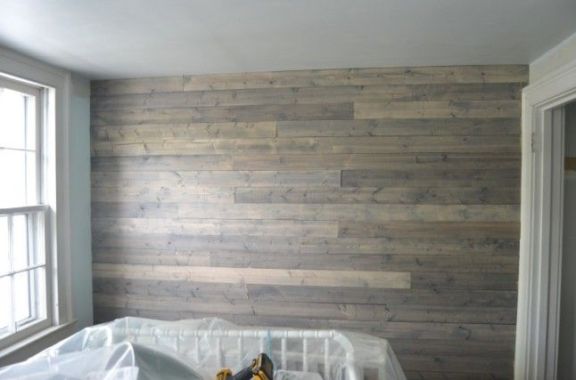 How To Fake A Reclaimed Wood Plank Wall Plank Walls Wood Plank Walls Home