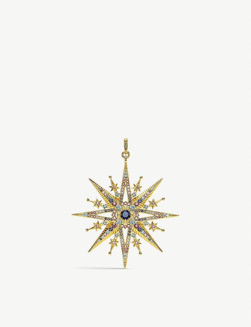 117c2dcc0 THOMAS SABO - Kingdom of Dreams Royalty Star 18ct gold-plated pendant |  Selfridges.com