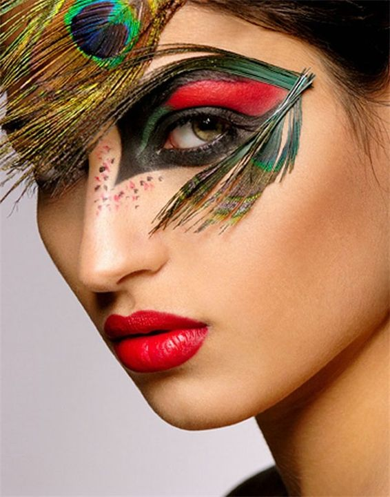 карнавальный макияж фото