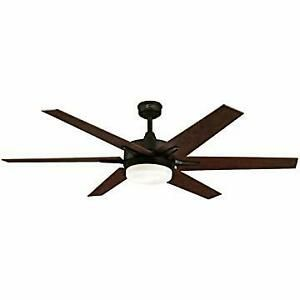 """Reversible Blades 62/"""" Bronze LED Indoor Ceiling Fan with Light Kit"""