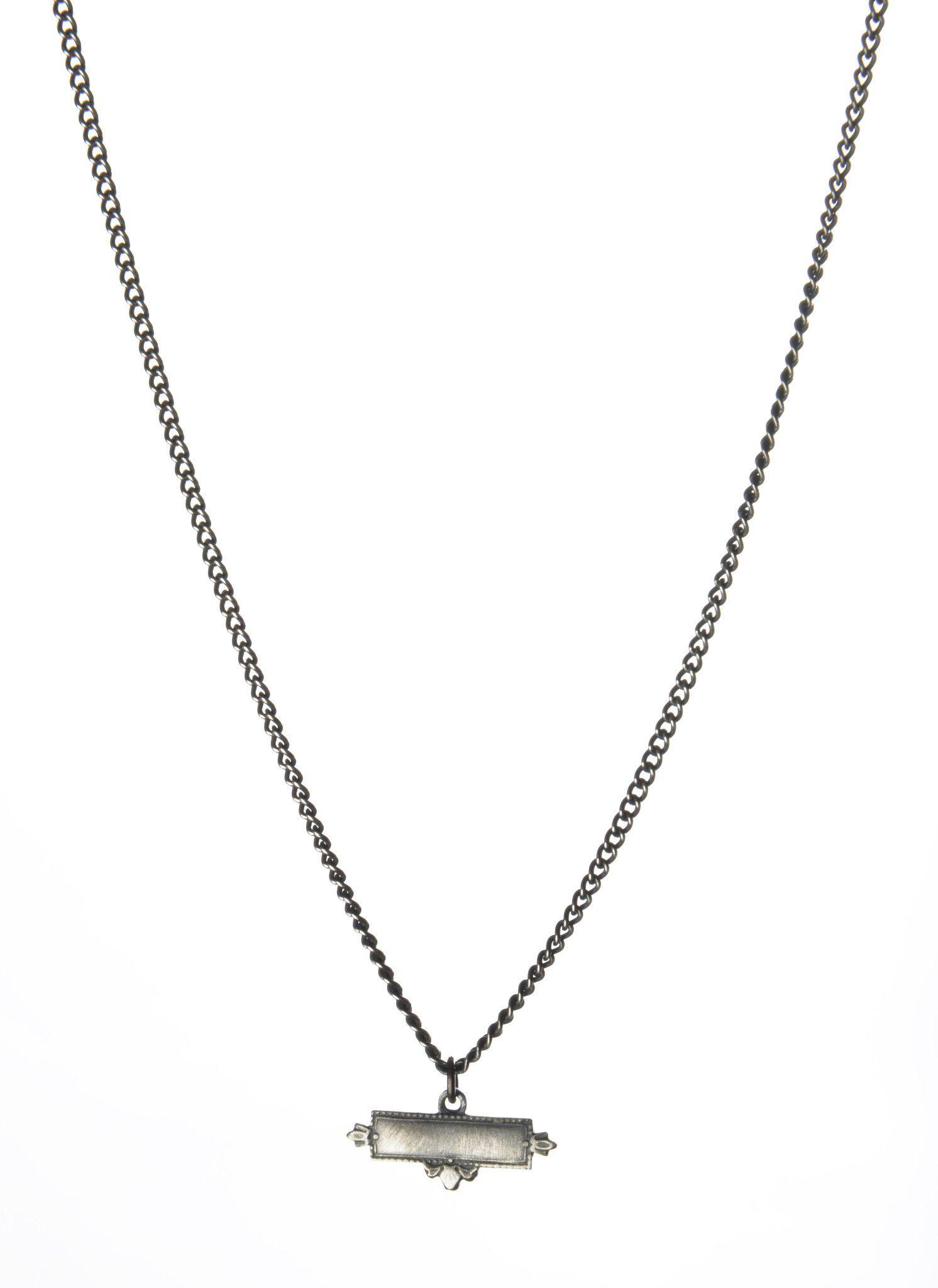Harakiri - Fall Winter 2014 - Menswear  // Small Chain Necklace With Pendant Men's Jewelry