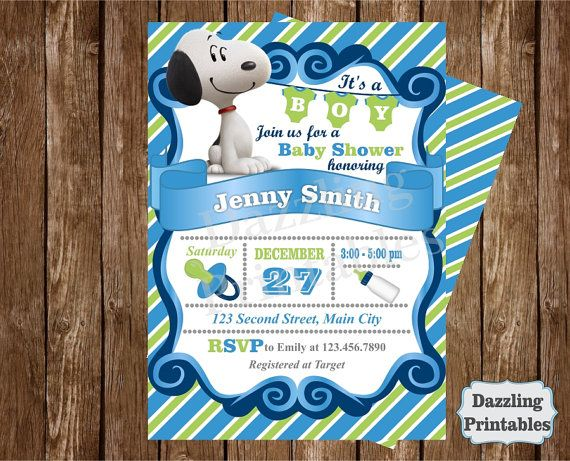 Hey i found this really awesome etsy listing at httpsetsy snoopy peanuts baby shower invitation by dazzlingprintables filmwisefo Choice Image