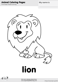 Free lion coloring page from Super Simple Learning. Tons
