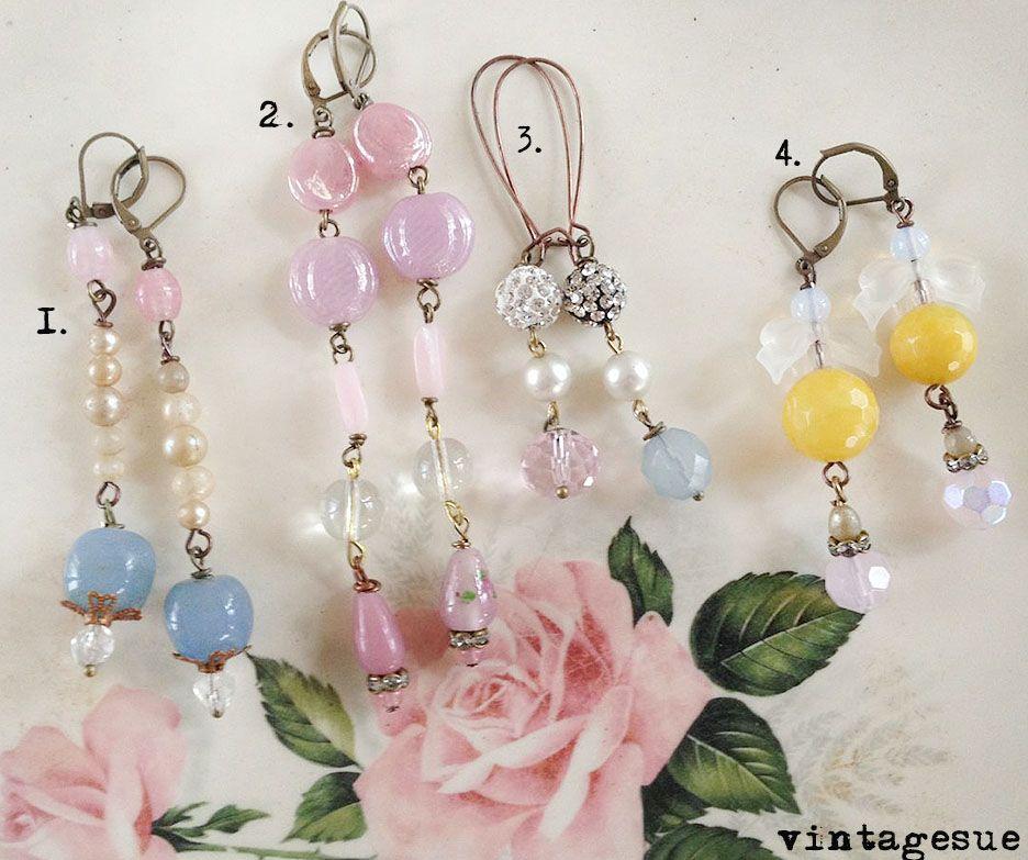 homespun earrings~ www.facebook.com/vintagesue