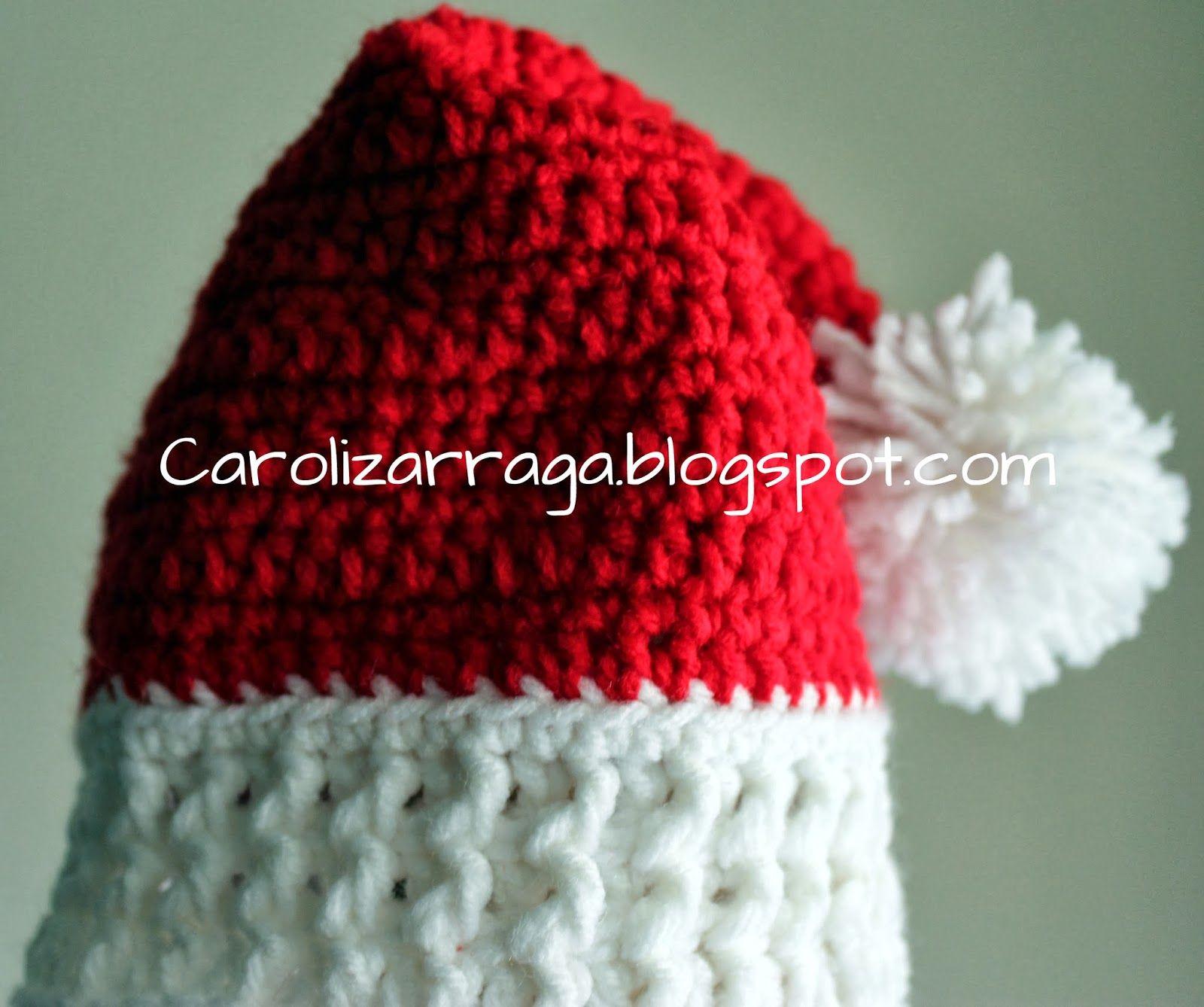 Patrones e ideas en Crochet..!!: Gorro navideno tejido a crochet ...