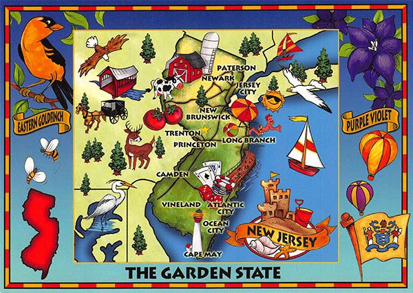 USA Cartoon Map Card New Jersey My Wish List Pinterest - Usa map cartoon
