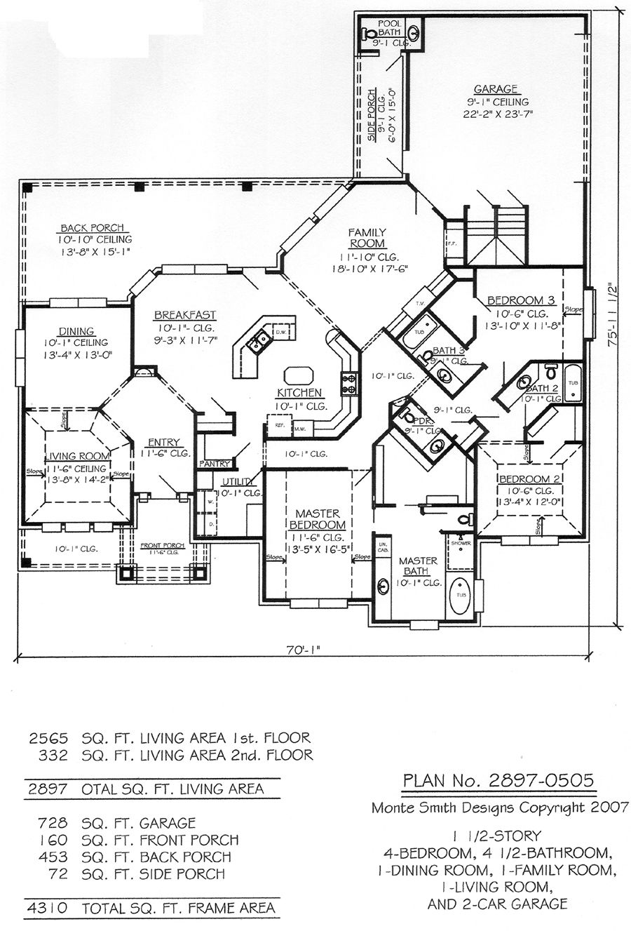 2897 0505 House Plan Design Online Texas And Hawaii Offices House Plans House Layout Plans Rectangle House Plans