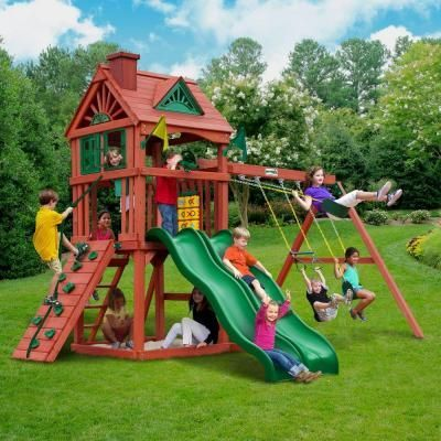 Gorilla Playsets Double Down Playset 01 0036 The Home Depot