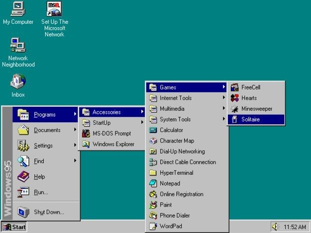 Having to open about 200 folders just to get to the games on Windows