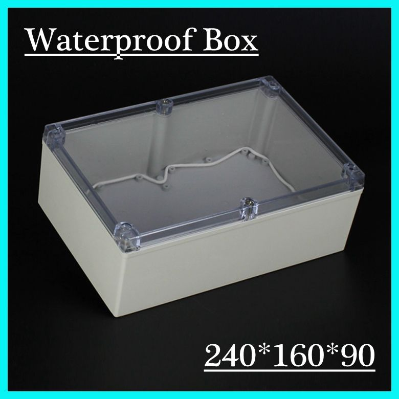240 160 90mm Ip65 Transparent Lid Plastic Abs Box With Mounting Plate Waterproof Enclosure Caja Plastco Electronics Projects Electrical Equipment Projects