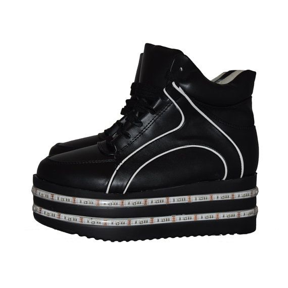 Light up LED hightop PLATFORM shoes with tons of by NeonNancy