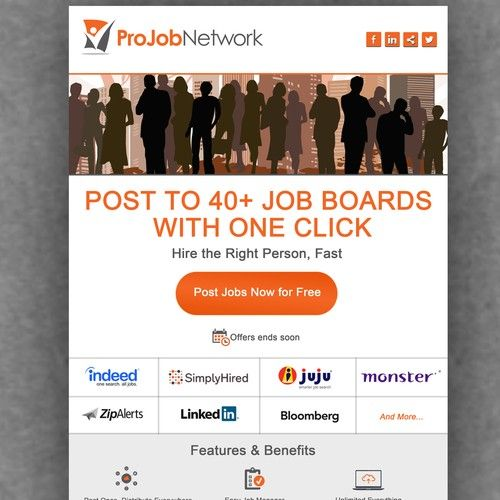 Create a Simple   Job board, Professional email templates ...