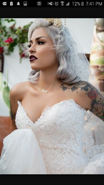Bride With Septum Piercing Wedding Dresses Wedding Inspiration
