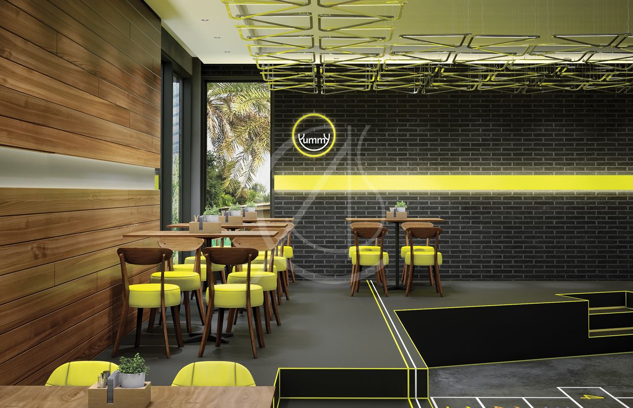 Modern Fast Food Restaurant Interior Design Hail Saudi Arabia