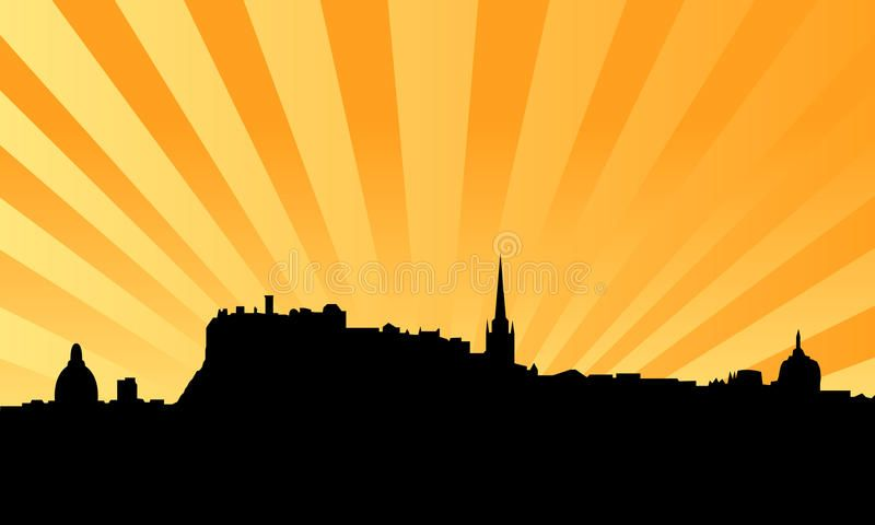 Edinburgh skyline vector background. Vectored illustration of the city of edinbu #Sponsored , #Sponsored, #Sponsored, #skyline, #background, #city, #vector