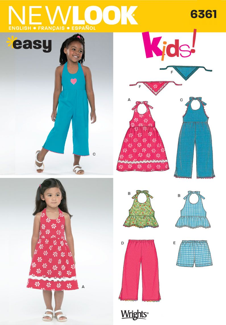 Childs sundress romper top sewing pattern 6361 new look childs sundress romper top sewing pattern 6361 new look jeuxipadfo Image collections