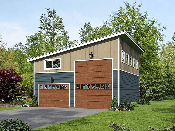 062g 0076 Modern Rv Garage Plan With Loft Garage Plans With Loft Garage Plans Detached Garage Design
