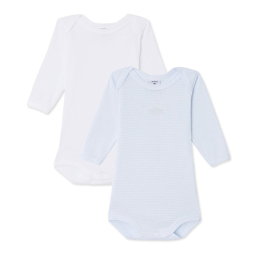 Petit Bateau Baby Boys Long Sleeve Top Pack of 2