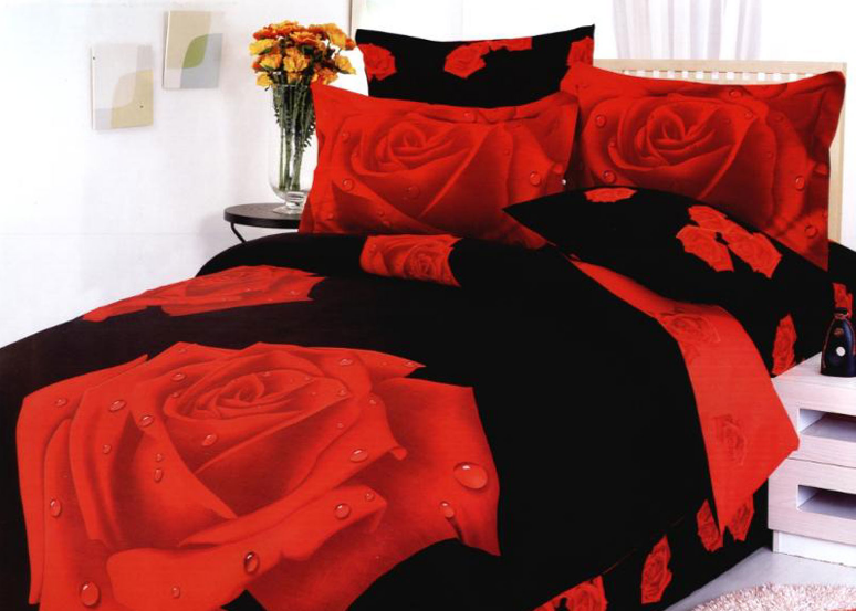 Sexy black bedding