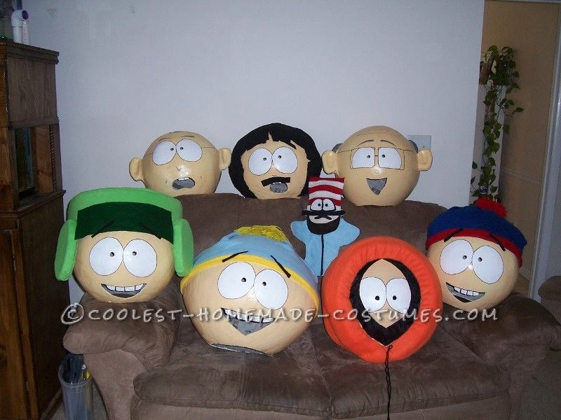 coolest homemade south park group costume - Southpark Halloween Costumes
