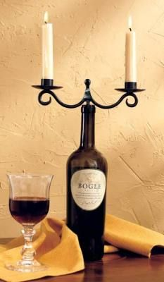 Wine Bottle Candelabra Diy Diy Pinterest