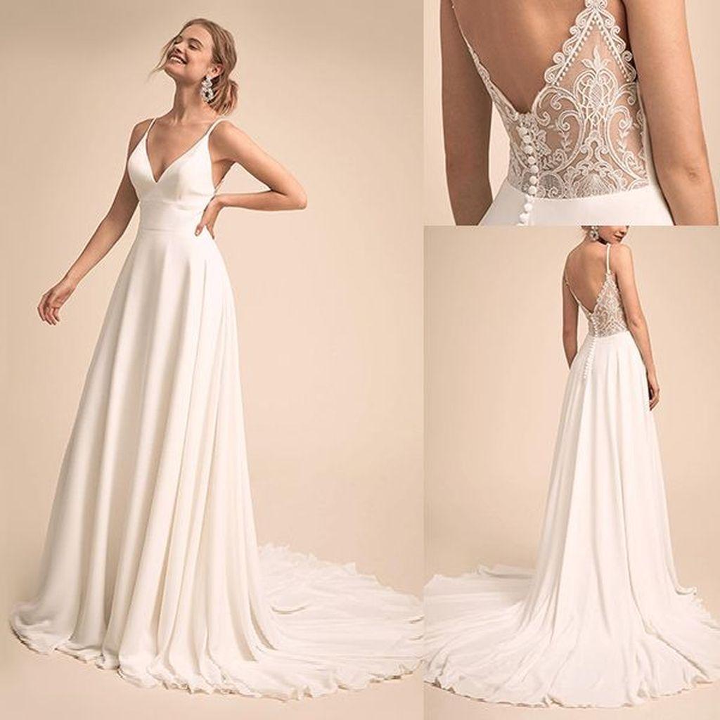 47 Newest Wedding Dresses Ideas To Inspire Spaghetti Strap Wedding Dress Wedding Dresses With Straps A Line Wedding Dress