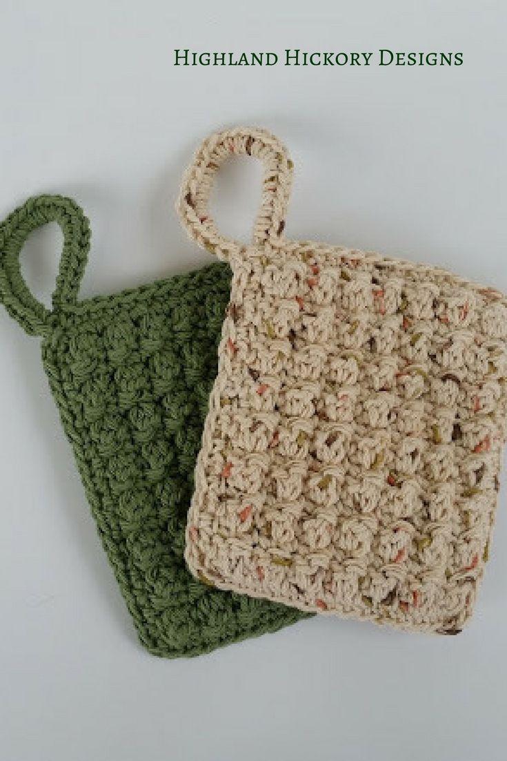 Jumbo Dish Scrubbers - Free Crochet Pattern | Kitchen accessories ...