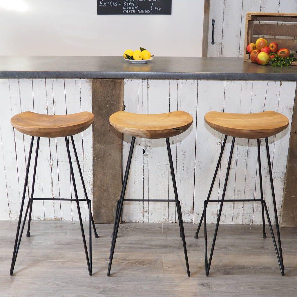 Industrial Wood Bar Stool Wood Bar Stools Industrial Bar Stools Kitchen Stools