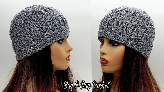 Super Textured Beanie Hat Crochet Pattern 582 Digital Download Etsy Beanie Hat Crochet Pattern Crochet Hats Crochet Hat Pattern