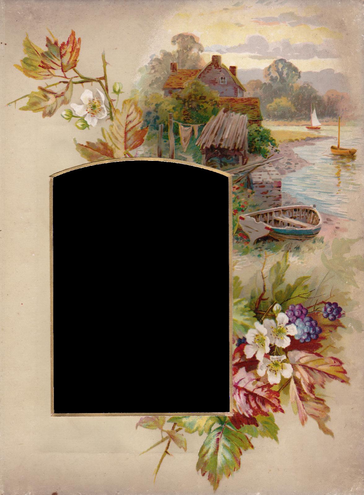 Vintage Autumn Album Frame ~ Zibi Vintage Scrap | DEKUPAJ ...