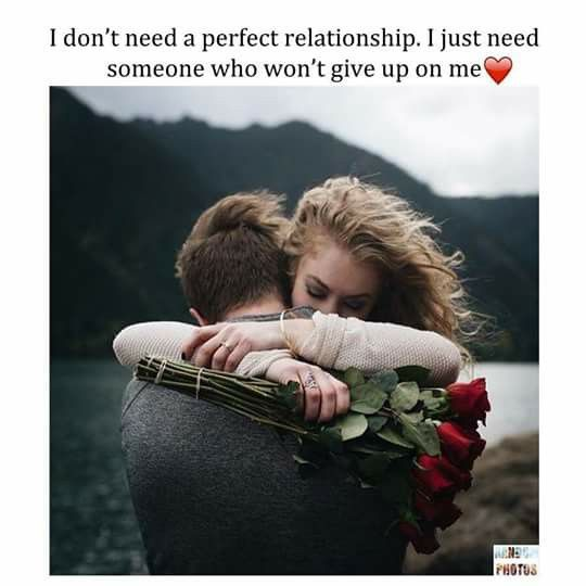 Cause no 1's perfct..so Y perfct relationships.!!