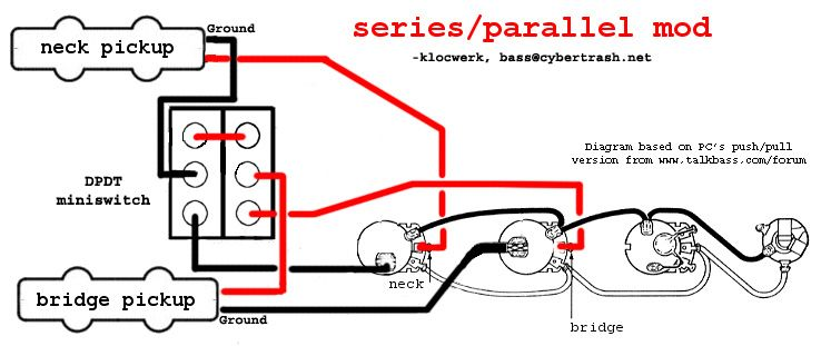 84d54debeb244ddb3e1ba8666ee40ae3 series parallel wiring diagram! bass guitar pinterest bass wiring diagram series vs parallel at fashall.co
