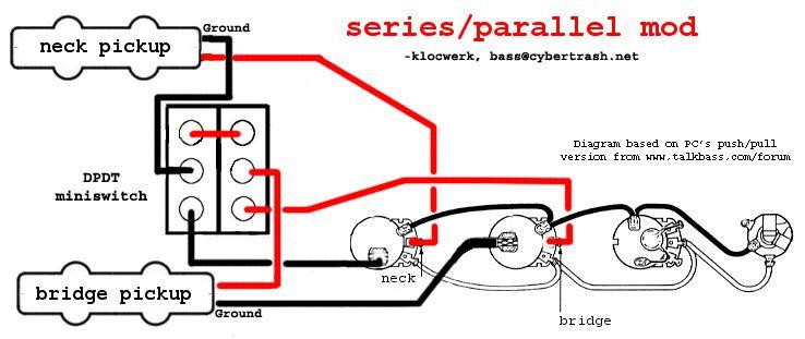 SeriesParallel wiring diagram! | Bass Guitar в 2019 г