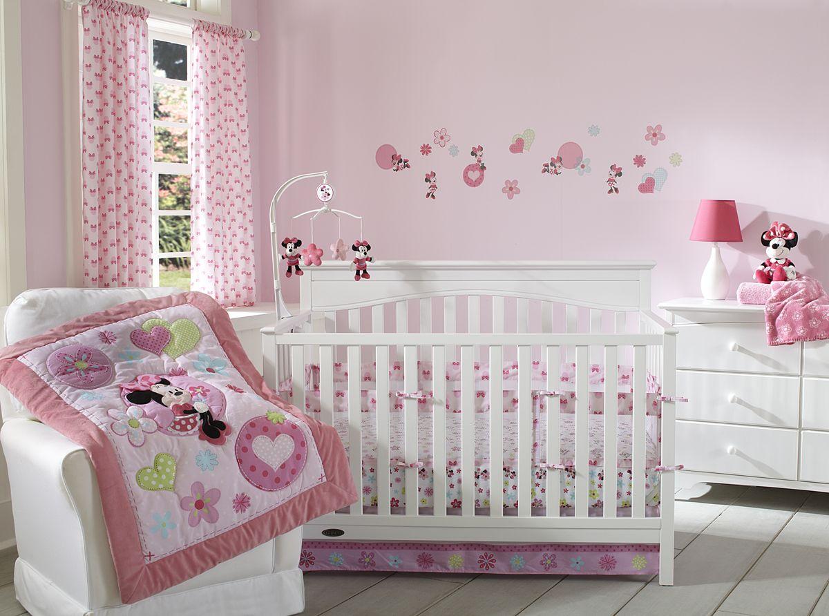 minnie mouse sitting pretty 3piece crib bedding set
