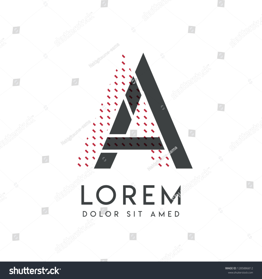 Aa Logo With Gray And Red Color That Can Be Used For Creative Industries And Paper Printing Aa Logo Is Filled With Bubbles And D Logo Color Art Logo Logo Mark