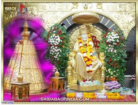 """Sai Baba of Shirdi- Divine saint: Baba's Sacred Body has been laid to eternal rest (Samadhi) here.  Samadhi complex and Temple was constructed by a loving devotee Shri Gopalrao Butti of Nagpur. It is therefore also called """"Butti Wada"""". Baba's beautiful life-size idol is placed near his Samadhi."""