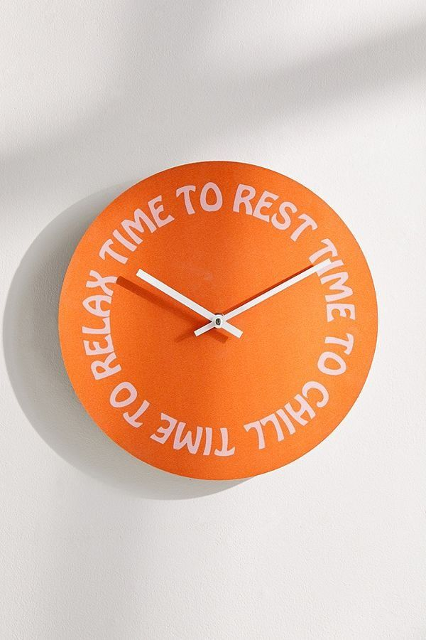 Relax 12 Quot Wall Clock Apartment Accessories Relaxing - Apartment Renovation Vancouver