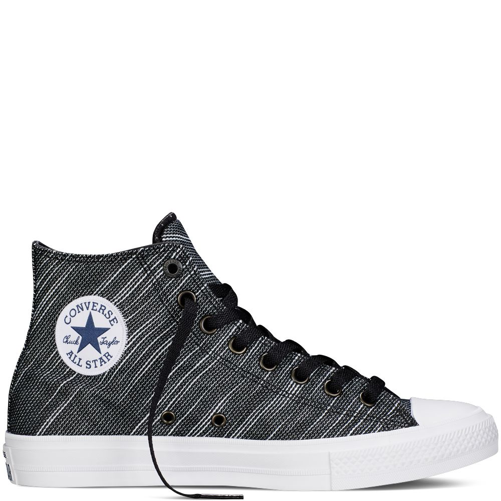 Chuck Taylor All Star II Knit Noir black/white/navy. Find this Pin and more  on COLLECTION - Converse-Chuck Taylor-Sneakers ...