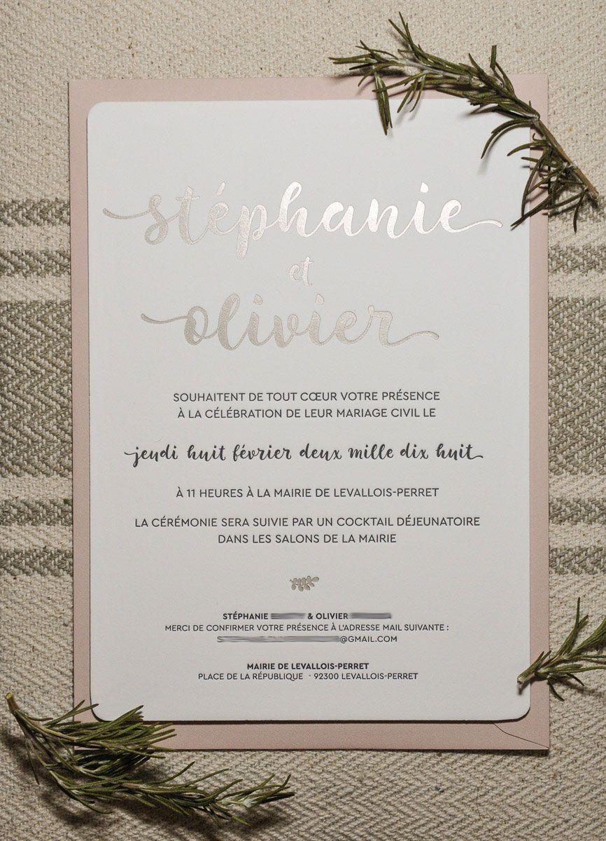 L Atelier Letterpress Faire Part De Mariage Champetre Avec