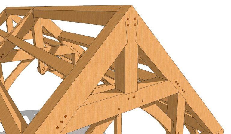 a668a10b5ae 16x24 Hammer Beam Timber Frame Plan - Timber Frame HQ