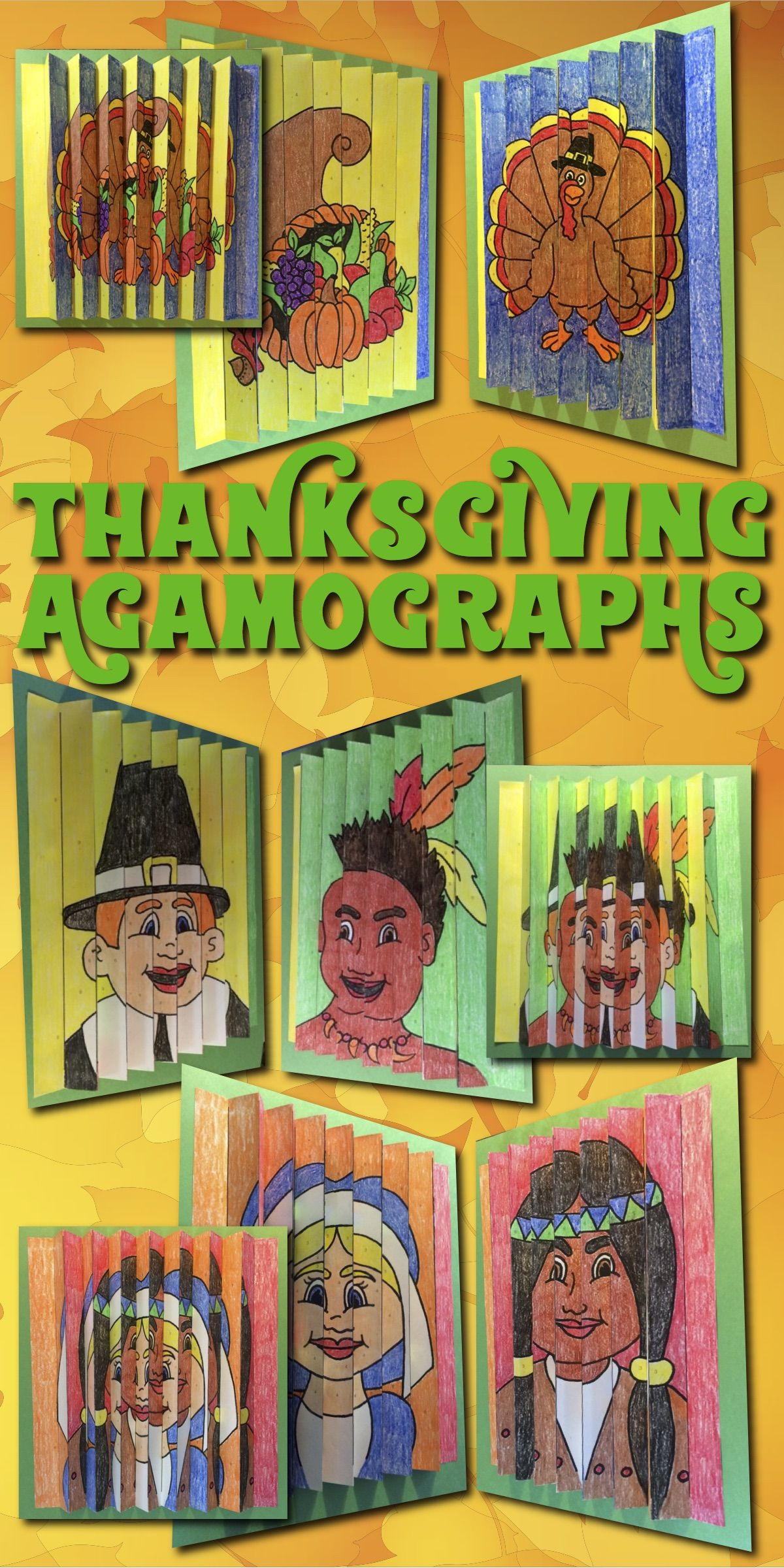 THANKSGIVING Activities and Crafts: Three Color-by-Number ...