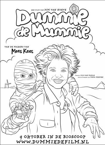 Kleurplaat Dummie De Mummie Kinderactiviteiten Voor Halloween