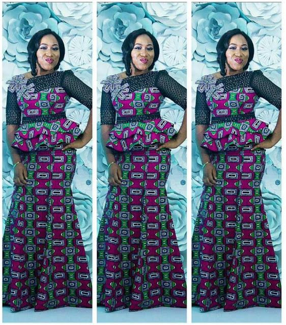 Check Out This Lovely Skirt And Blouse Ankara Styles