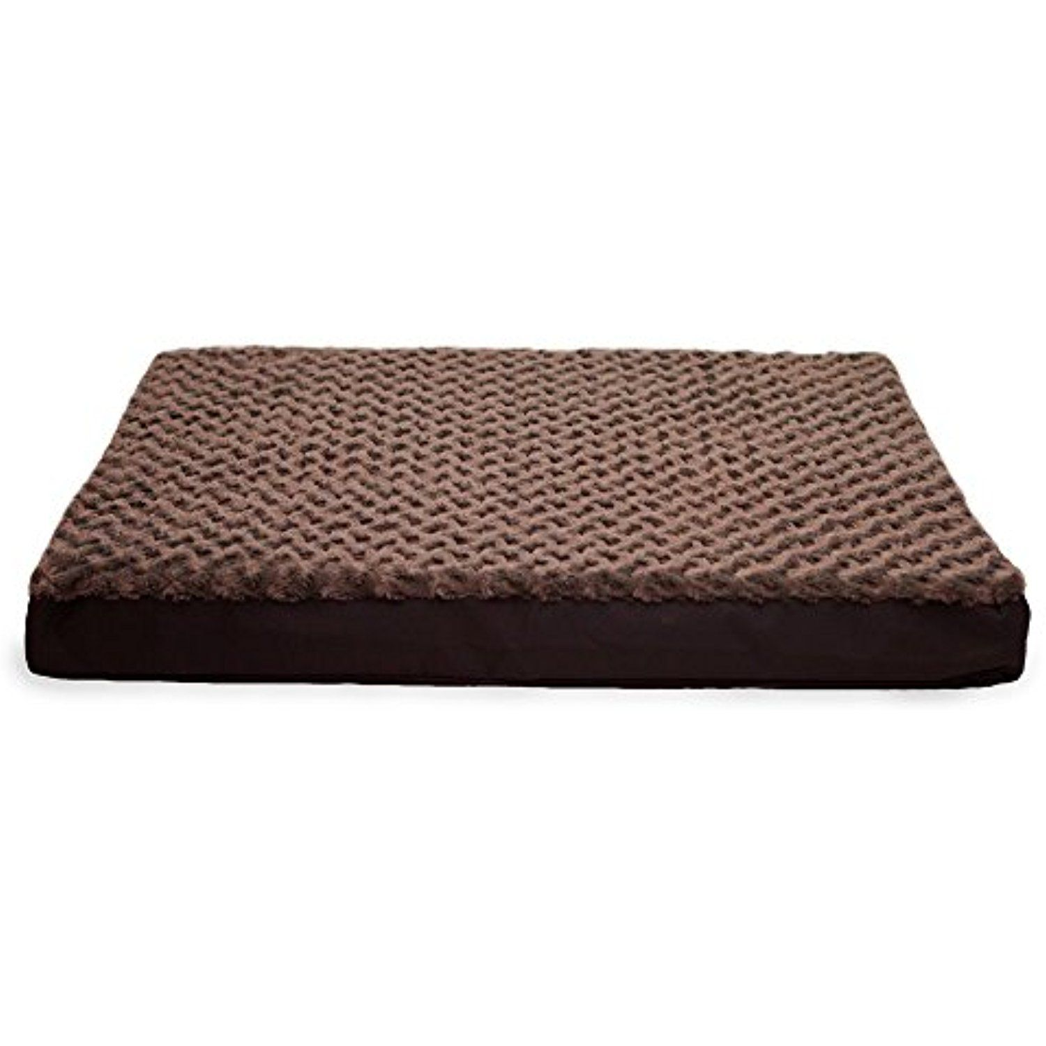 large 1 piece chocolate brown color deluxe ultra plush memory foam