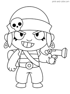 Brawl Stars Coloring Pages Star Coloring Pages Flag Coloring Pages Coloring Pages