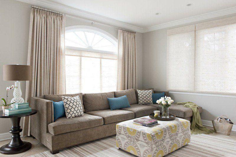 Décoration de salon u2013idées avec coussins,tableaux et rideaux Salons - decoration de salon moderne
